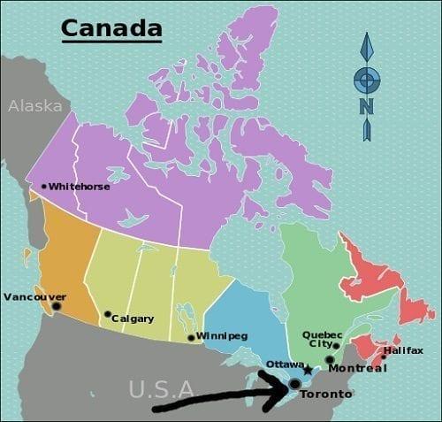 Canada_regions_map Toronto