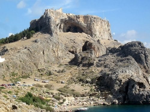 Lindos cave