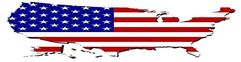 U.S.A. Flag map