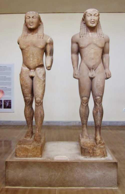 Kleobis and Biton, Delphi
