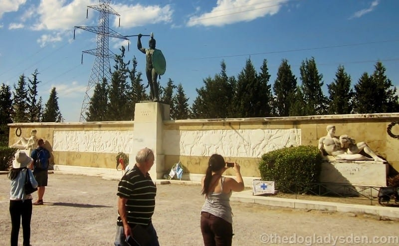 statue of Leonidis, Thermopylae   Meteora
