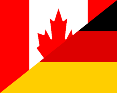 canada germany flag