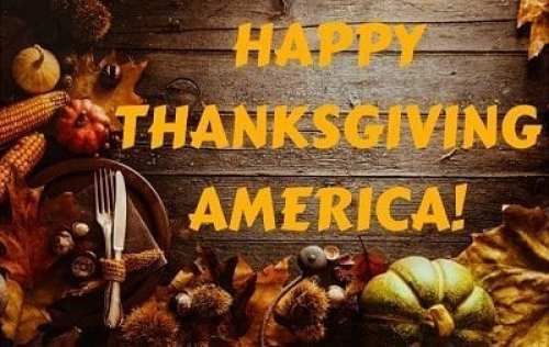 Happy Thanksgiving America!