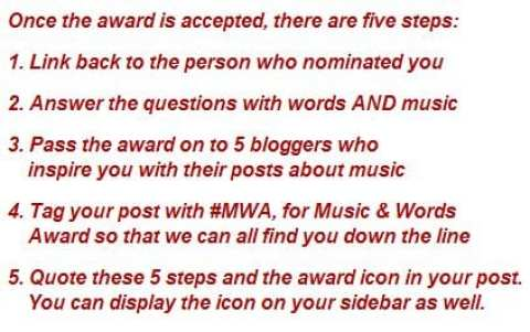 Music and Words Award instructions