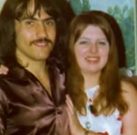 Hubby and me, first anniversary 1974