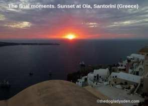 Final sunset moment on Santorini #TopTenThursday #Blogfest