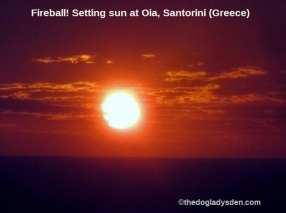 Fireball Santorini Sunset | #TopTenThursday #Blogfest