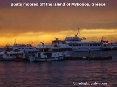 Boats moored off Mykonos | #TopTenThursday #Blogfest