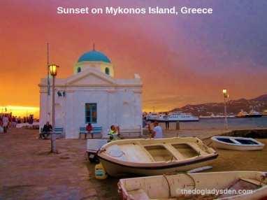 Sunset at Mykonos | #TopTenThursday #Blogfest