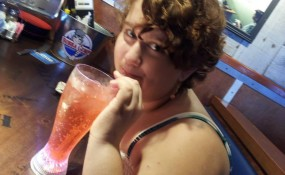 Sarah loves her Shirley Temples!