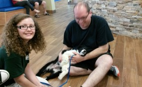 Smudge and his new family!