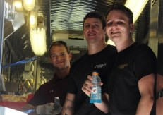 The guys making the food happen inside the Roaming Raven.