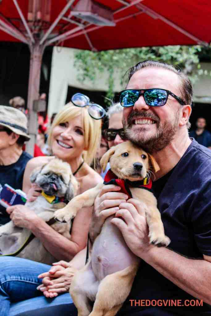 London Dog Events - PupIdol 2015 - Michelle Collins & Ricky Gervais