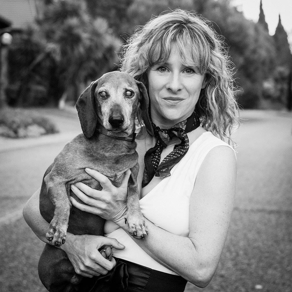 Emma O'Brien and Jeremy London Dog Photo Shoot