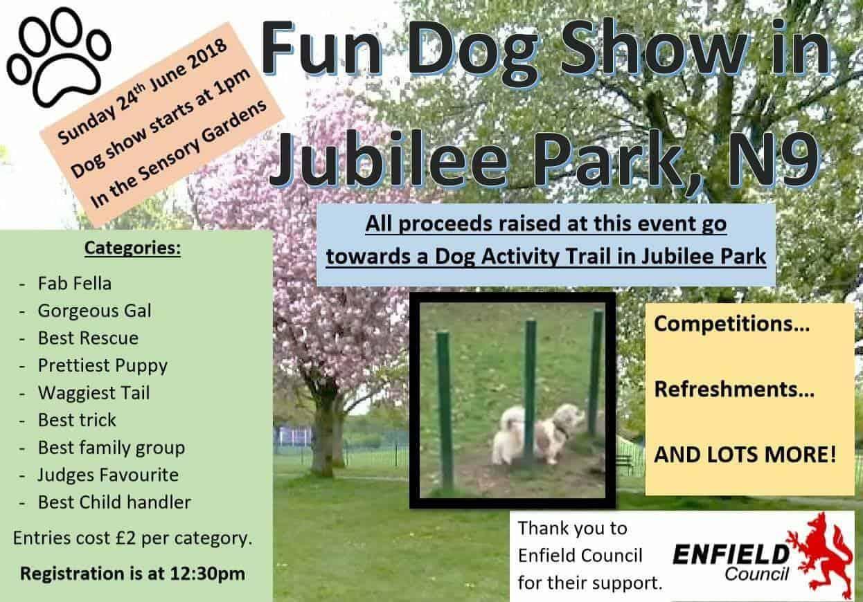London Dog Shows - Jubliee Park Fun Dog Show - London Dog Events