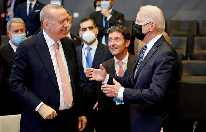 Biden, Erdogan upbeat after first face-to-face talks