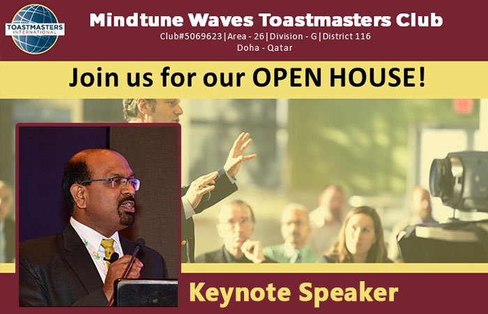 Mind Tune Waves Toastmasters Open House meeting on Friday