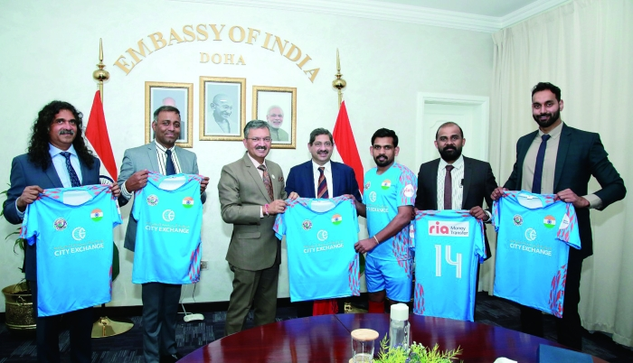 Ambassador releases jersey for Indian team in Community World Cup 2021