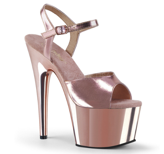 Rose gold pole dancing heel