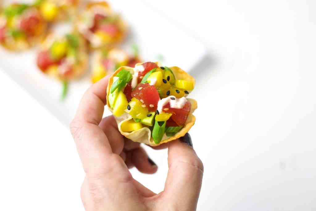 Mini Ahi Tuna Poke Bowls The Domestic Dietitian