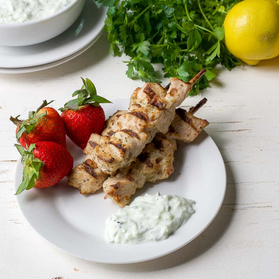 Grilled Mediterranean Chicken Skewers The Domestic Dietitian