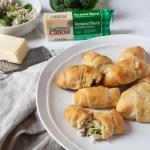 cheesy chicken broccoli rolls