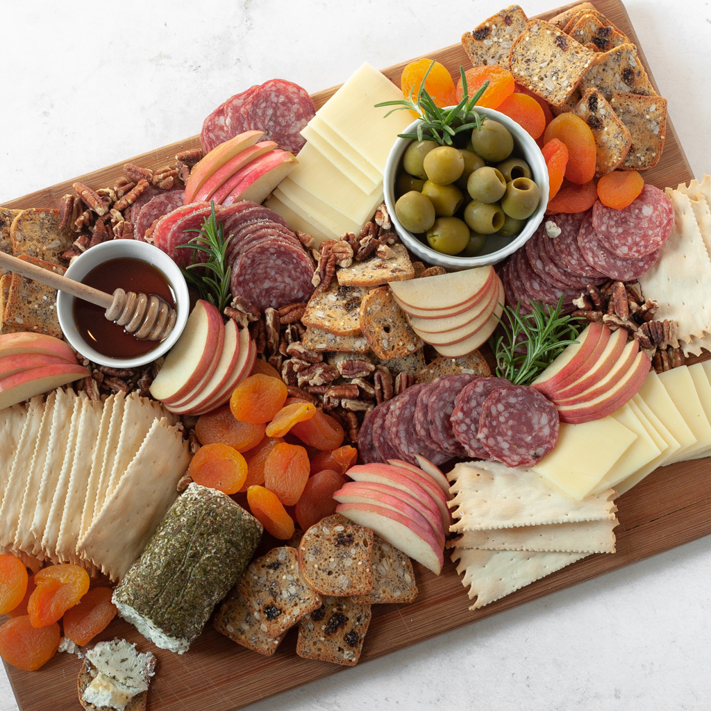 Mediterranean Diet inspired fall cheese board