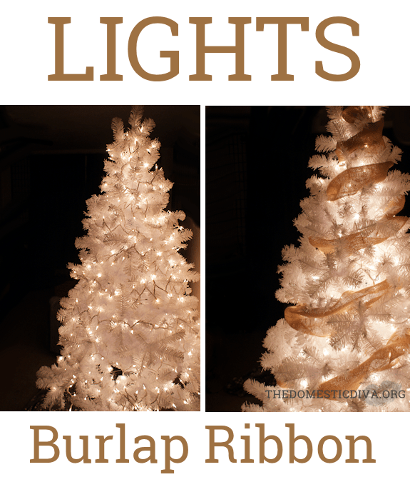 Howto Decorate a White Christmas Tree with Burlap Step by Step