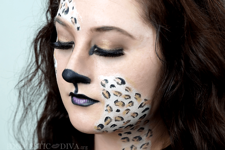 leopard halloween makeup tutorial