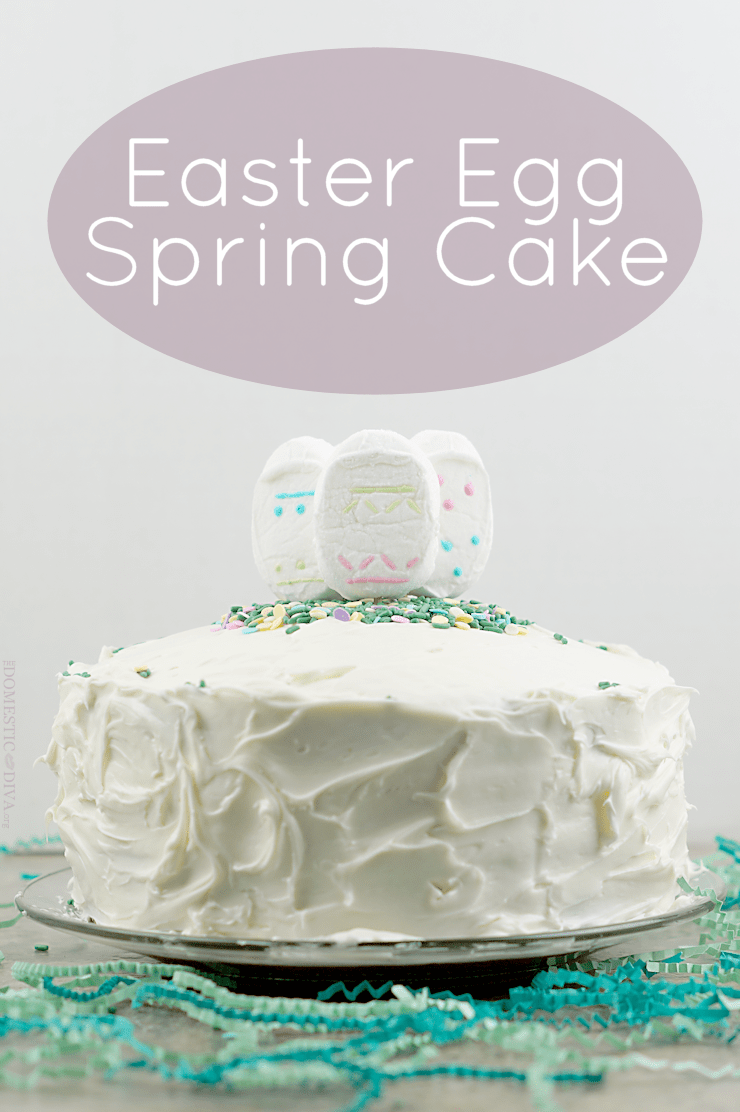 Easter Egg Spring Cake Recipe with PEEPS