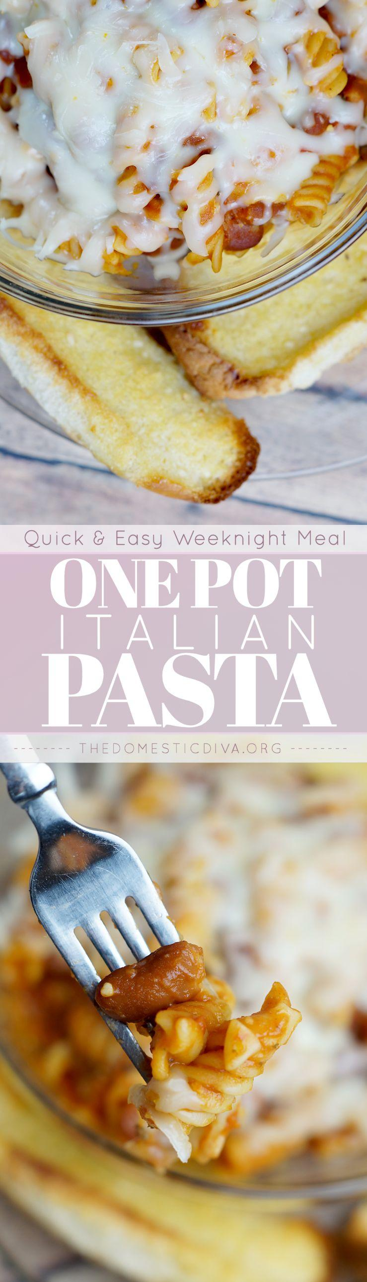 Quick & Easy Meal Idea: One Pot Italian Pasta Dinner Recipe