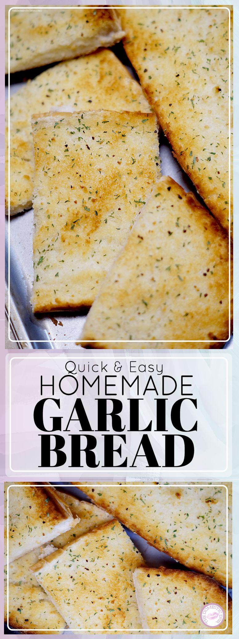 The Easiest Homemade Garlic Bread Recipe