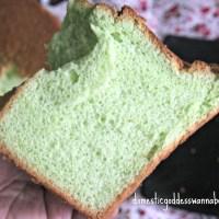 pandan chiffon cake (pandan paste method)