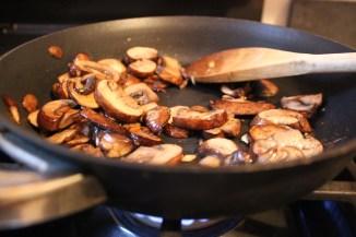 Beautifully sautéed mushrooms and garlic