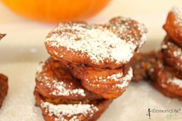 spiced pumpkin banana fritters