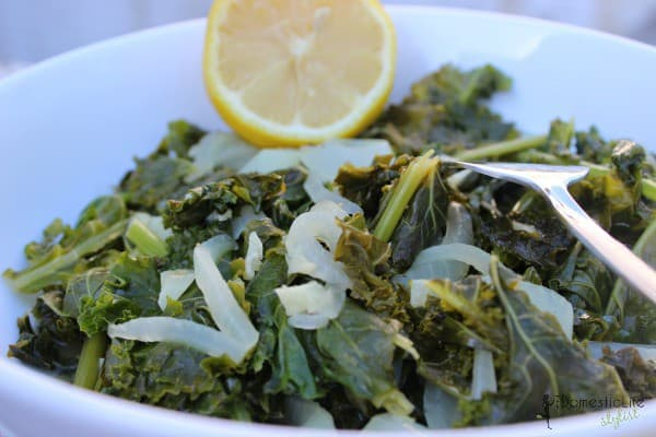 sauteed kale with lemon