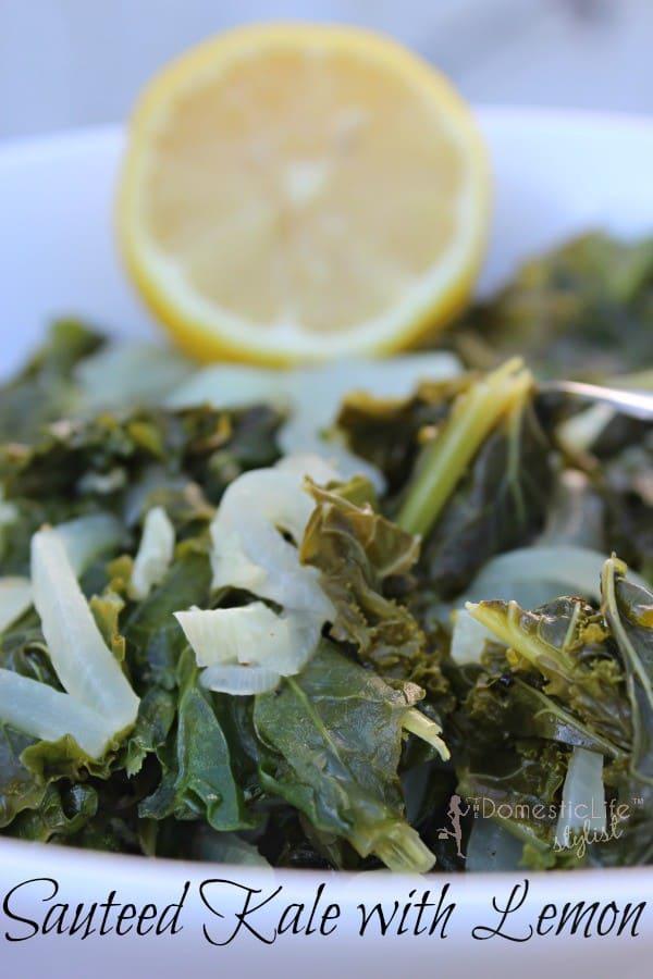 Sauteed kale with lemon recipe