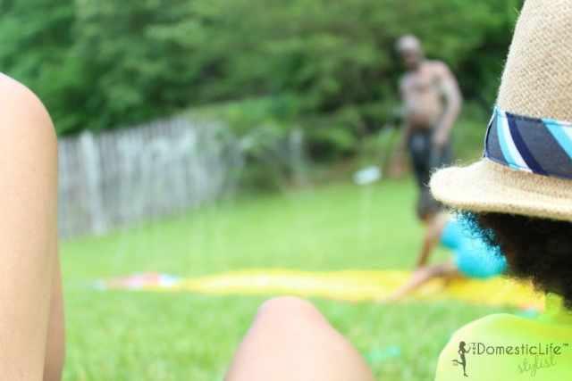 backyard slide