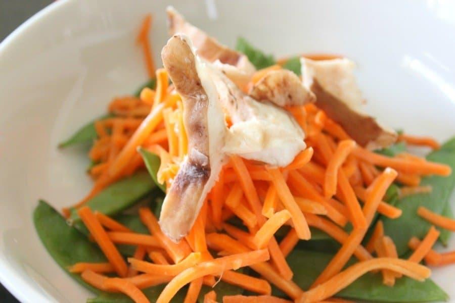 asian veggies in bowl