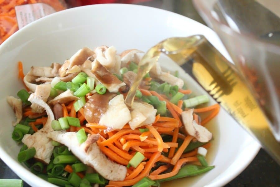 chicken broth and veggies