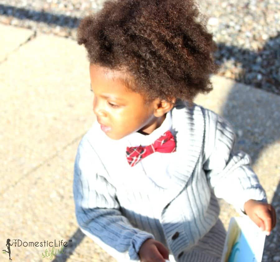 young boy with big natural afro