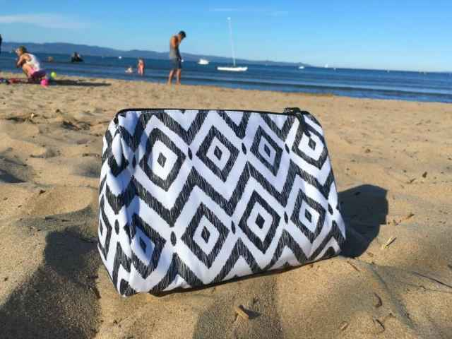 black and white scout cosmetic bag