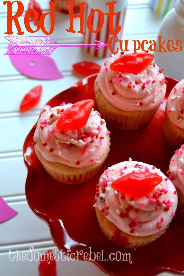 Red Hot Cinnamon Cupcakes The Domestic Rebel