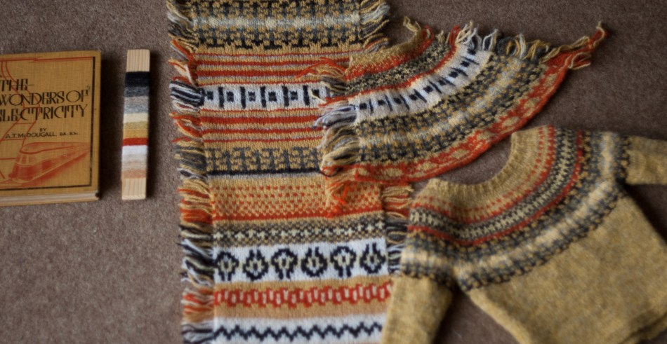 Inspiration source + palette + swatches = perfect yoke sweater!