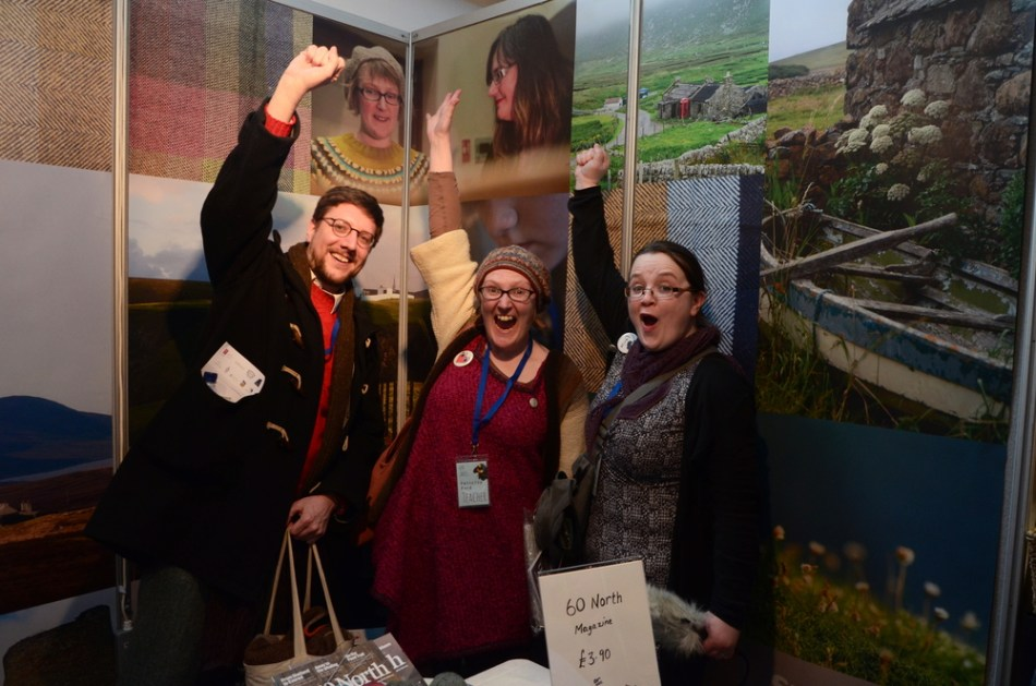 Team WOVEMBER spotted on the Shetland Wool Week at the Edinburgh Yarn Festival, photographed by the fantastic Jeni Reid