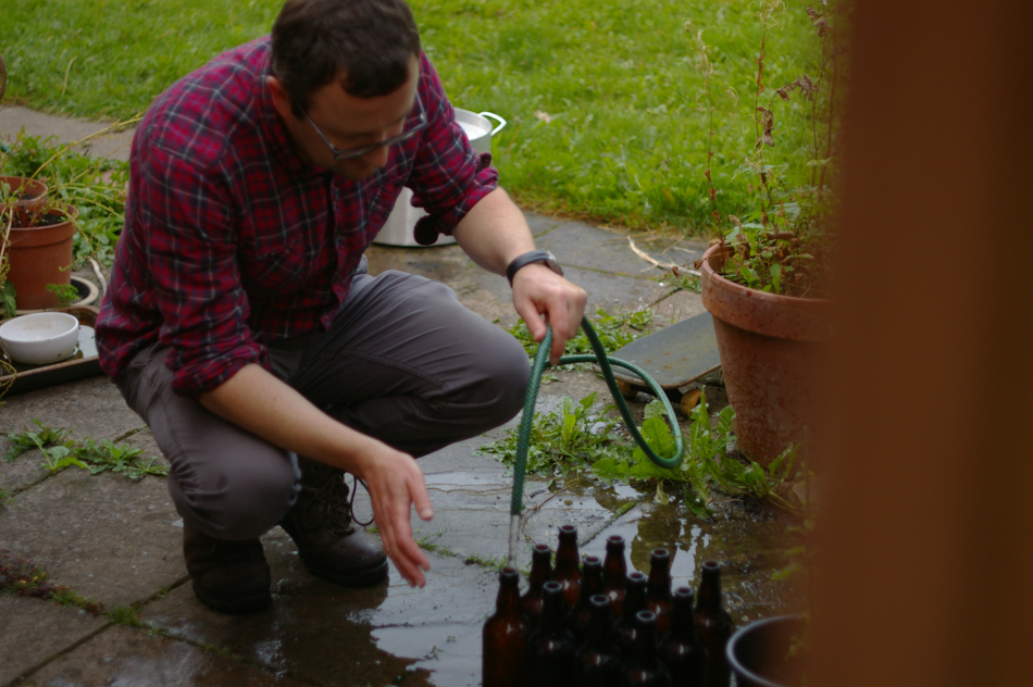 sterilising beer bottles in 2014