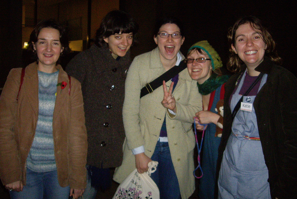 With some of the Oxford Bluestockings comrades at the end of I Knit London, 2007!