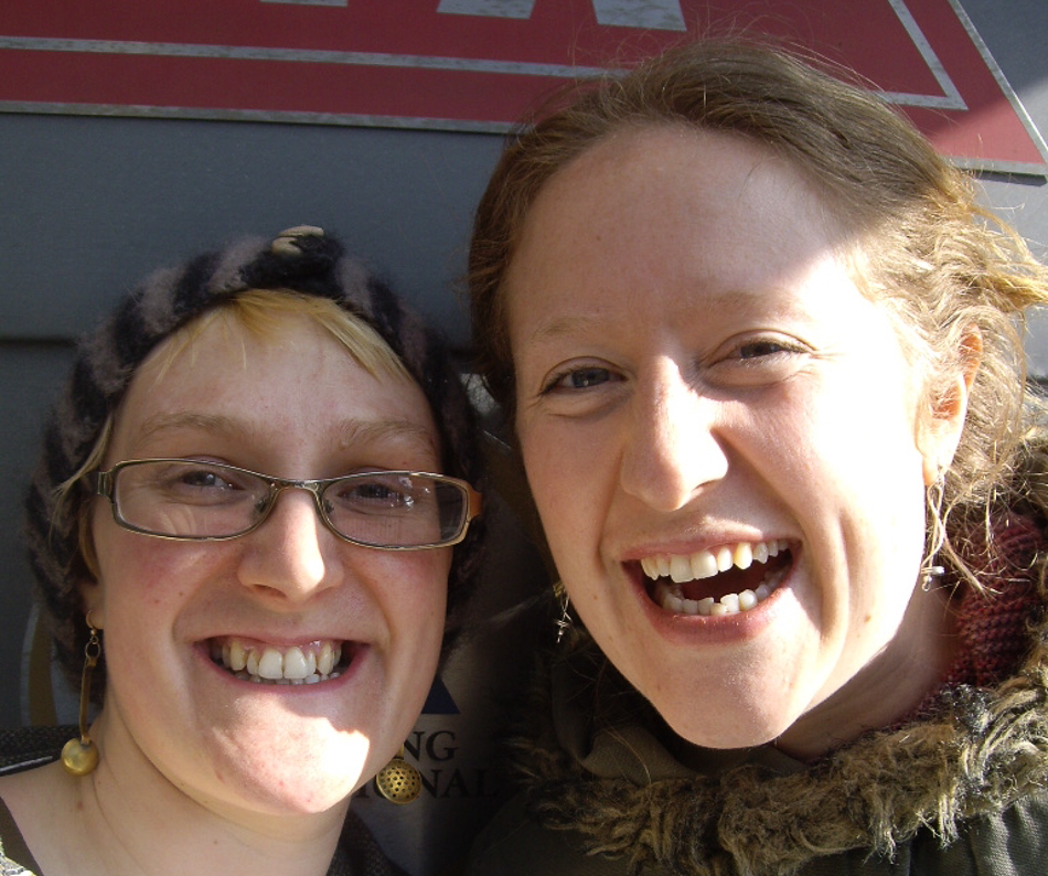 Myself and Lara in Edinburgh, 2010