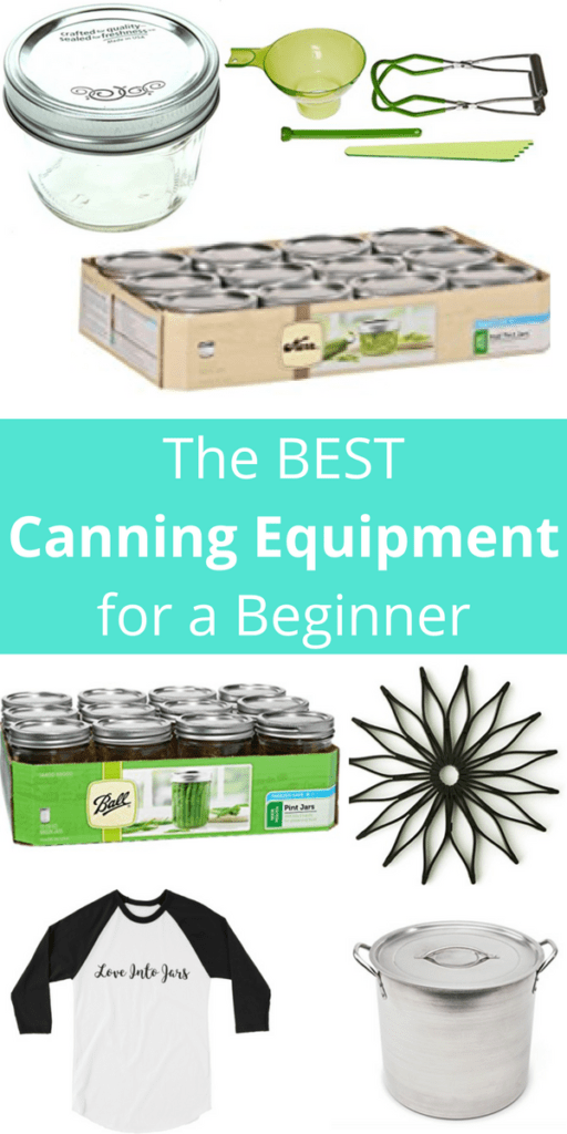 The Best Canning Equipment for a Beginner - Get this must have home canning kit list for beginners if you are shopping for gifts or for yourself, this lists the gear you need, and tells you how to skip that giant pot!