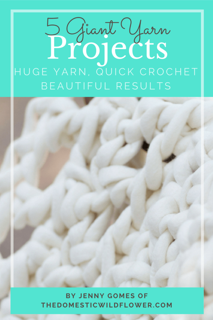 5 Giant Yarn Crochet Projects Ebook | Get these 5 easy to read patterns written in plain English to make these dreamy projects in a single afternoon!